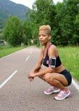 Ritratto della donna di forma fisica Fotografia Stock