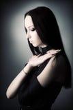 Ritratto della donna di Goth Fotografia Stock