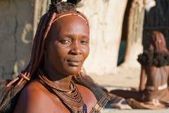 Ritratto della donna di Himba Immagini Stock Libere da Diritti