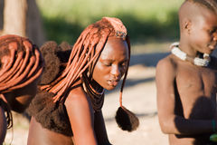 Ritratto della donna di Himba Fotografia Stock Libera da Diritti