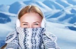 Ritratto della donna di orario invernale Fotografia Stock Libera da Diritti