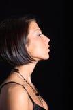 Ritratto della donna di profilo Immagini Stock Libere da Diritti