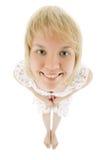 Ritratto della donna di scherzo Immagini Stock