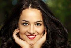 Ritratto della donna felice Fotografia Stock
