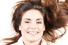 Ritratto della donna felice Fotografie Stock Libere da Diritti