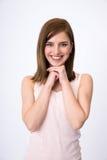 Ritratto della donna felice attraente Fotografie Stock