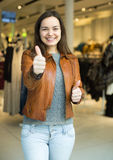 Ritratto della donna felice in deposito Immagini Stock Libere da Diritti