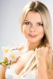 Ritratto della donna graziosa Immagini Stock