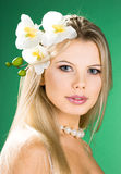 Ritratto della donna graziosa Fotografia Stock