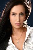 Ritratto della donna graziosa di affari Fotografie Stock