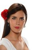 Ritratto della donna ispana fotografia stock libera da diritti