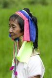Ritratto della donna lunga del collo Immagini Stock