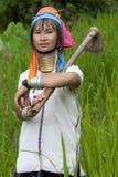 Ritratto della donna lunga del collo Immagine Stock Libera da Diritti