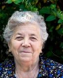 Ritratto della donna maggiore felice Immagini Stock Libere da Diritti
