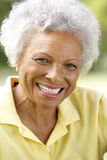 Ritratto della donna maggiore sorridente all'aperto Immagini Stock Libere da Diritti