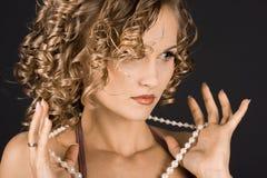 Ritratto della donna meravigliosa fotografia stock libera da diritti