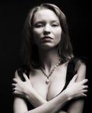 Ritratto della donna misteriosa sexy Fotografia Stock