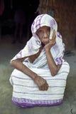 Ritratto della donna molto anziana, Bangladesh Fotografia Stock