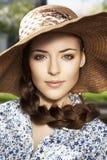 Ritratto della donna nel cappello Fotografia Stock Libera da Diritti
