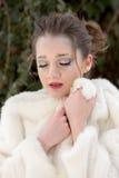 Ritratto della donna, regina della neve Fotografie Stock