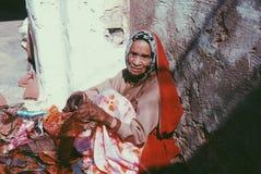 Ritratto della donna senior indiana Fotografie Stock