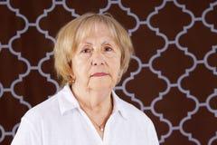 Ritratto della donna senior seria Fotografia Stock Libera da Diritti