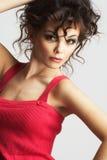 Ritratto della donna sexy con bello trucco Fotografia Stock Libera da Diritti