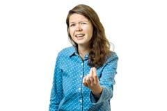 Ritratto della donna sollecitata e frustrata Fotografia Stock Libera da Diritti