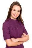 Ritratto della donna sorridente Immagini Stock Libere da Diritti