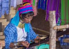 Ritratto della donna della tribù di Kayan nel Myanmar Fotografia Stock