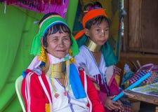 Ritratto della donna della tribù di Kayan nel Myanmar Immagini Stock