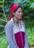 Ritratto della donna della tribù di Kayan nel Myanmar Immagine Stock Libera da Diritti