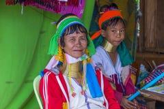 Ritratto della donna della tribù di Kayan nel Myanmar Immagine Stock