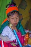 Ritratto della donna della tribù di Kayan nel Myanmar Fotografia Stock Libera da Diritti