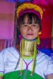 Ritratto della donna della tribù di Kayan nel Myanmar Fotografie Stock