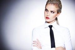 Ritratto della donna urbana di affari Fotografia Stock