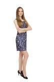 Ritratto della donna in vestito variopinto Immagini Stock