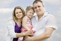 ritratto della famiglia Fotografia Stock