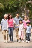 Ritratto della famiglia cinese di diverse generazioni Immagini Stock