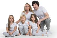 Ritratto della famiglia con i bambini immagine stock libera da diritti