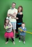 Ritratto della famiglia degli anni 80 di divertimento Fotografie Stock