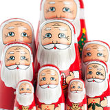 Ritratto della famiglia del Babbo Natale Immagini Stock