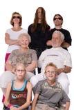 Ritratto della famiglia dello studio di un mazzo pazzesco Fotografie Stock Libere da Diritti