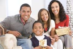 ritratto della famiglia di natale immagini stock libere da diritti