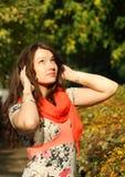 Ritratto della femmina di autunno Fotografie Stock