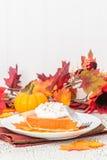 Ritratto della fetta della torta di zucca fotografie stock libere da diritti