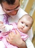 Ritratto della figlia e del padre Fotografia Stock
