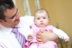 Ritratto della figlia e del padre Fotografie Stock
