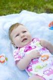 Ritratto della fine di due mesi del bambino su Immagini Stock Libere da Diritti