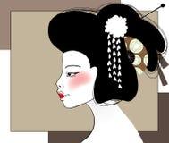 Ritratto della geisha Fotografia Stock